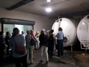 Visiting Fermenting Tanks at the Capital Brewery