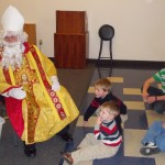 The children were excited to see Sankt Nikolaus