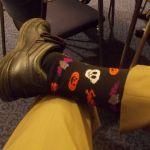 Halloween sock photo