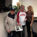 Paul and Dorothy with Mel; the photo is of Paul's German exchange student group