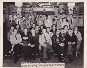 A group of German exchange students in 1951. Paul Hermann is #12.
