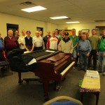 Paul (in the NY Yankees ball cap) with the choir