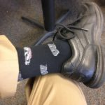 Bucky & UW socks at the Spring Concert, May 2016