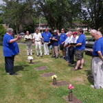 We sang near the grave of Ernst Roth