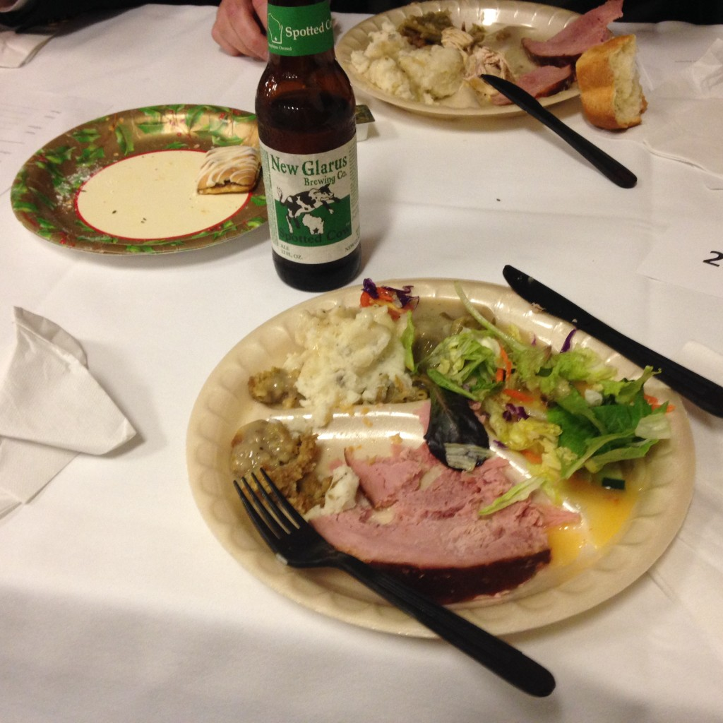 We had the traditional ham baked in sourdough bread along with turkey, mashed potatoes and all of the trimmings