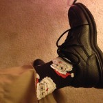 The mandatory concert sock photo