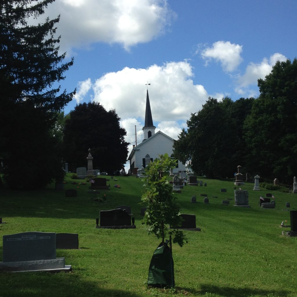 A view of the church from the cemetery