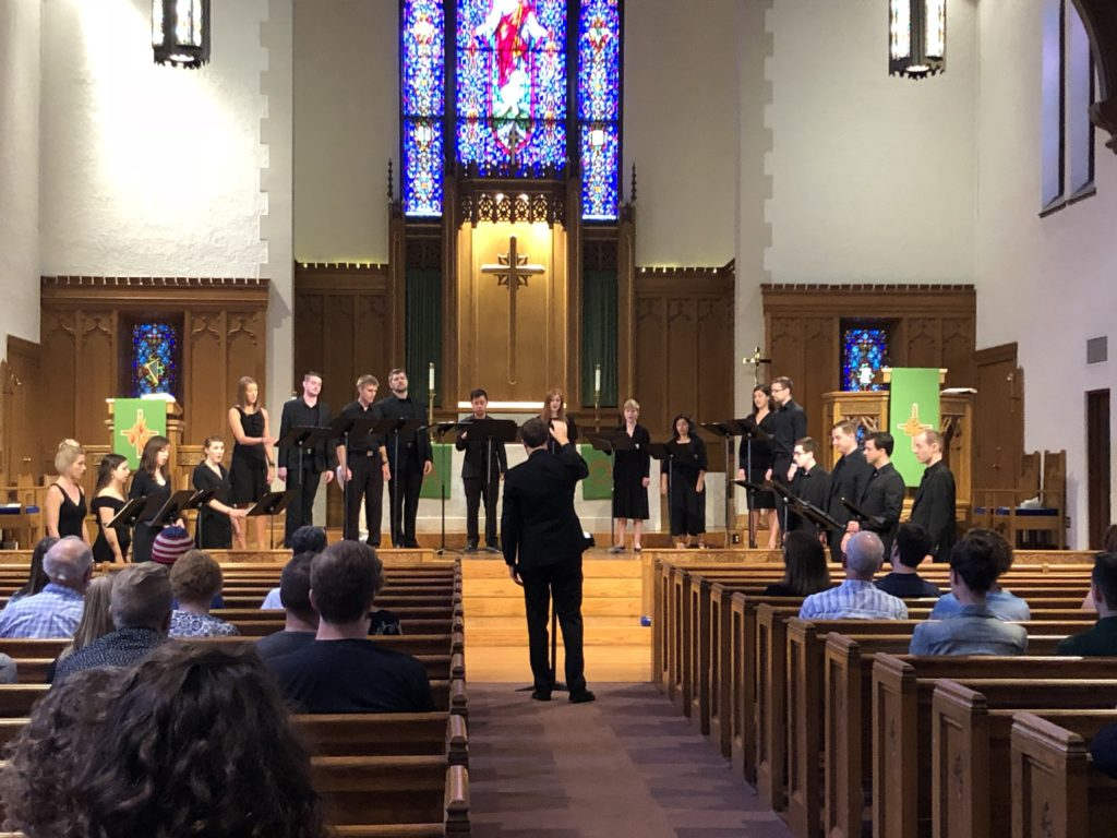 The Beloit Chorale performing at Bethel Lutheran Church, July 21, 2018