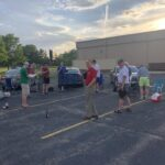 Singing in the Turner Hall parking lot