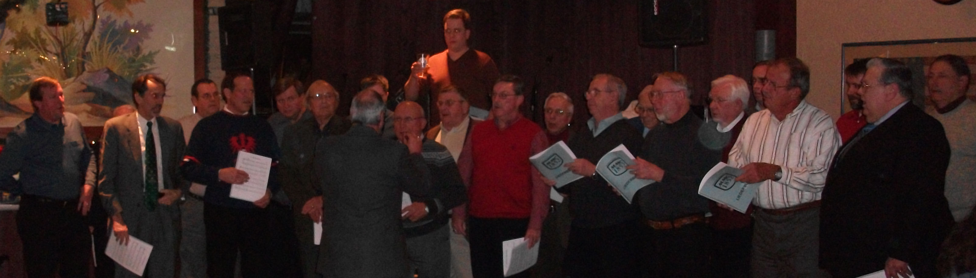 MMC singing at Essen Haus Madison February 13, 2010